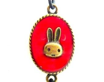 Bracelet elastic red rabbit