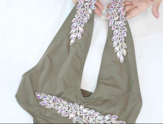 GLAMBYROXY- DIY Crystal Diamond Bikini  Applique