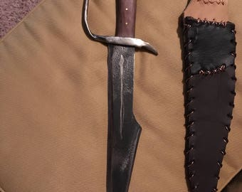 Hand forged D Guard Bowie