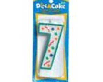 Numeral ''7'' Birthday Candle