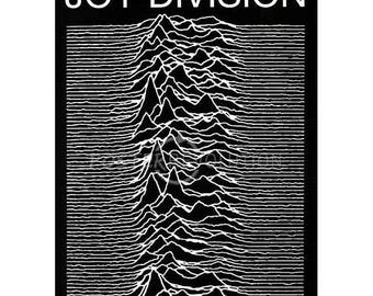 Back to School Sale: Unknown Pleasures by Joy Division (1979) POSTER
