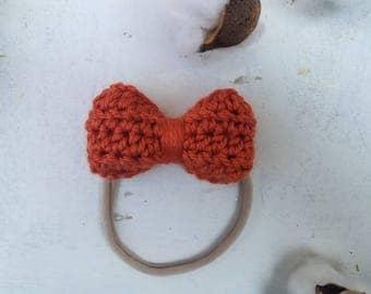 Pumpkin Nylon Headband / Nylon Baby Headband / Blue Nylon Headband / Baby Girl Headband Navy / Nylon Baby Headband Blue / Dark Blue Headband