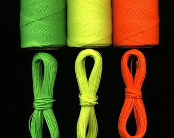 Wire macrame 3 x 10 meters Linhasita, fluorescent, neon orange, neon yellow green