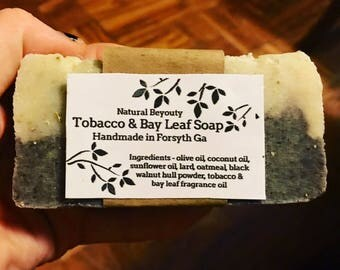 Tobacco & Bay Leaf Soap, Strong sweet smell, Handmade, Quality ingredients