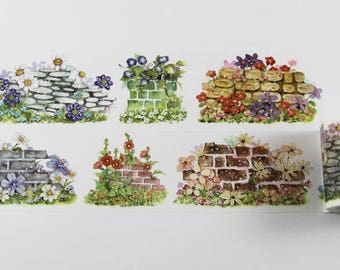 Design Washi tape Wall Floral Garden nature