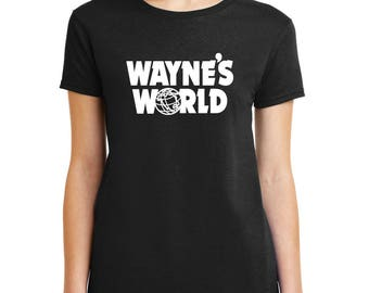 WAYNE'S WORLD logo T-shirt Garth Algar movie Halloween costume Shirts Women Men Kids sizes