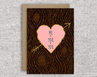Me + You + You Card | Valentine, love, anniversary, polyamory card