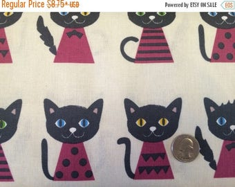 SALE Cats Canvas Fabric Japanese Import