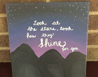 Coldplay Canvas