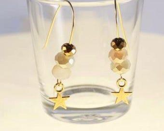 Stud Earrings gold tone
