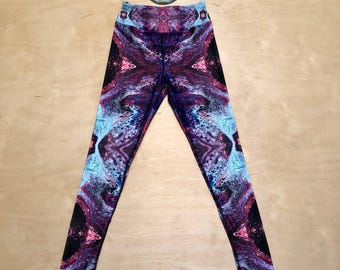 "The ""Marbleized"" Kaleidoscopic Apparel Yoga Pants (LE 25)"