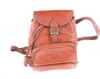 The Light Vintage Brown Cognac Leather Backpack