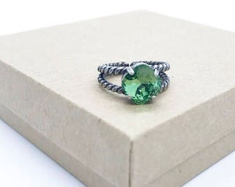 Swarovski Crystal Ring in Erinite