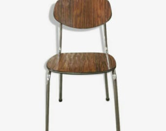 Two Retro Kitchen Chairs by Tavio Made in Belgium Roosewood