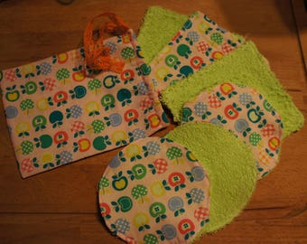 small cotton bag and its 6 assorted wipes