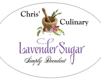 Lavender Sugar Made with Imported French Lavender