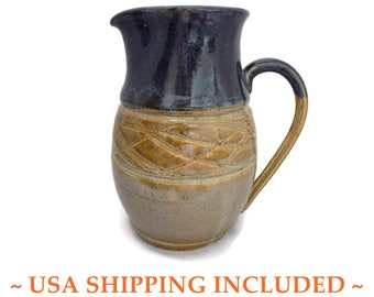 Studio Stoneware Pitcher Hand Thrown by Christine Burris, WA