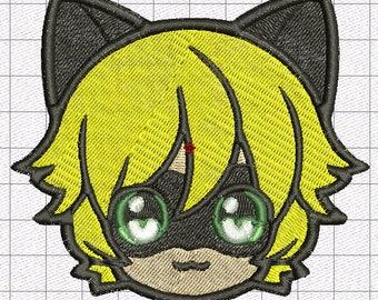 Patch Chat Noir 10 X 8, 5 Cm