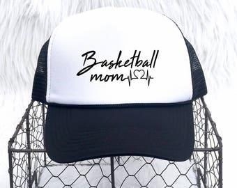 Sports mom Hat, Basketball Mom, Trucker Hat, Sports mom gift, Football Mom, Wrestling mom, Sports hat, Christmas Gift, Baseball Mom, Hats