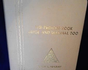 The Princess Book Guide and Marshal Marshall 1970's Job's Daughters Masons Masonic Girls