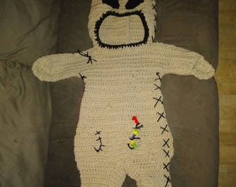 Baby outfit costume 4-6 month old - nightmare before christmas boogyman boogie oogie Halloween costume. Made to order
