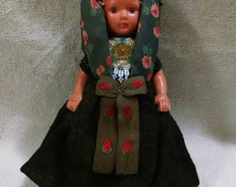 Ornately Beaded Vintage Folk Doll