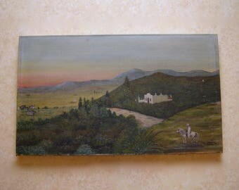 Painting on canvas orientalist/table painted/Algeria/Berber/Arabian horse / antiquityfrench / early twentieth century painting
