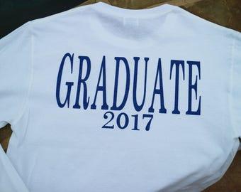 Graduate 2018 | Senior Shirt | Senior 2018 | Graduation Shirts | Monogrammed Senior Shirt