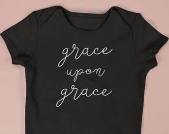 Grace Upon Grace Baby Bodysuit | Grace Upon Grace | Baby Clothing | Grace Upon Grace Baby | Baby Bodysuit | Baby Shower Gift