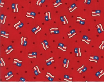 Moda SEW AMERICAN Quilt Fabric 1/2 Yard By Deb Strain - Red 19781 12