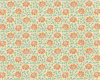 Moda SOMERSET Quilt Fabric 1/2 Yard By Fig Tree & Co - Creme Poppy 20232 27