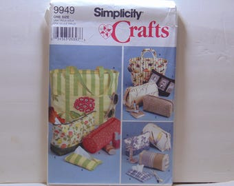 Simplicity 9949 Sewing Pattern Tote Bags in Various Sizes UNCUT