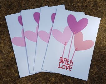 With Love Cards - 4 Pack with envelopes
