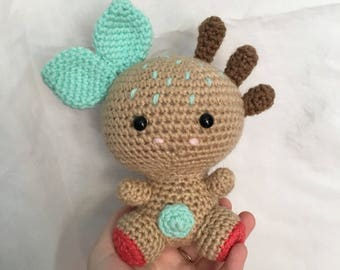 READY TO SHIP handmade crochet amigurumi art toy stuffed animal toy tree spirit/sprite plushie