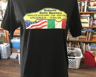Vintage 80's Iron On Logo T-Shirt from Dalla Massara Car Care Vincenza Italy