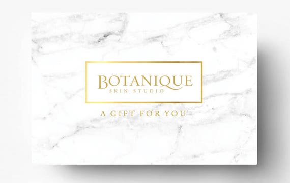 Pre-made Gift Card Template Spa Gift Certificate Boutique