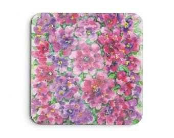 Garden Coasters, Flower Coasters, Coffee Table Coasters, Table Coasters, Home Decor, Original Watercolor Design, Entertaining