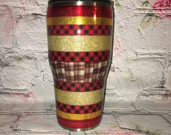 Buffalo plaid tumbler