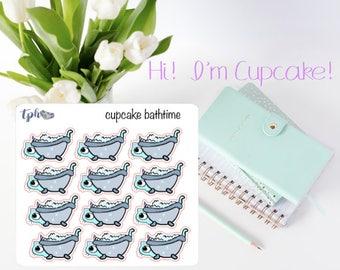 CUPCAKE the Kitty-Corn Bath Time Deco Stickers