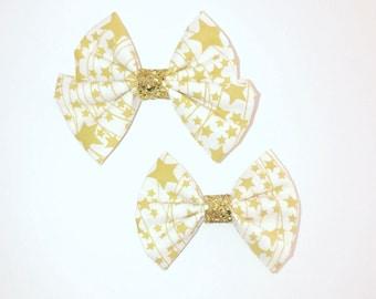 Star Struck Bow on clip or headband