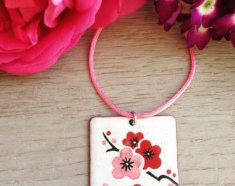 Glazed Cherry blossom Pendant