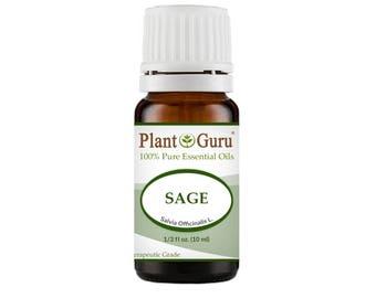 Sage Essential Oil  100% Pure, Undiluted, Therapeutic Grade.