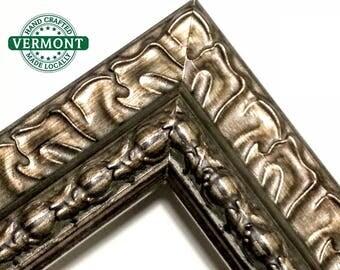 Wide Ornate Bronze Picture Frame, Gold, Silver, 5x7, 9x9, 12x12, 11x14, 16x20, 18x24, 23x27, 20x24. 24x36, ALL Sizes, Custom Picture Frame