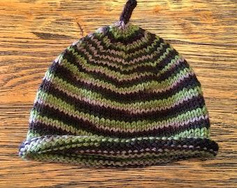 Handmade, baby hat, soft, wool,  rustic