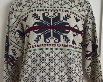 Vintage 80s 90s Ugly Xmas Jumper Pullover Sweater size M