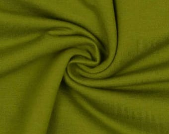 Moss Green French Terry  - Quality 4 way stretch 290gsm