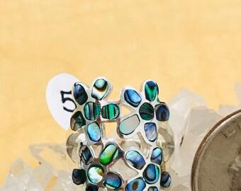 Abalone Ring Size 5 1/2