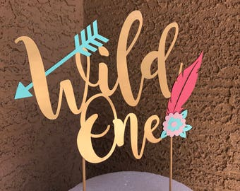 Wild One cake topper for first birthday
