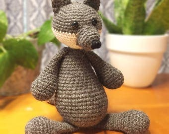 Remus the Wolf | Handmade Crochet Animal