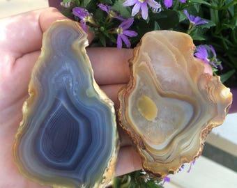 Natural Agate Slice Set